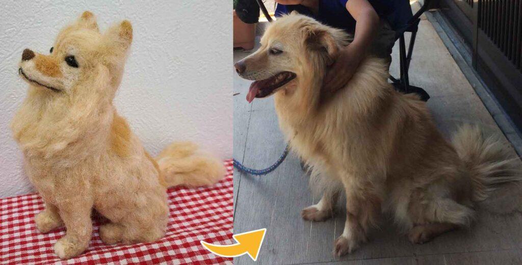 フェルトペット犬